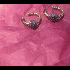 Earrings - 18K Yellow Gold Vermeil Mesh & Diamonds